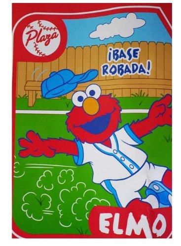 eadb999494 Amazon.com  Elmo Sesame Street Baseball Sports Plush Twin Bed ...