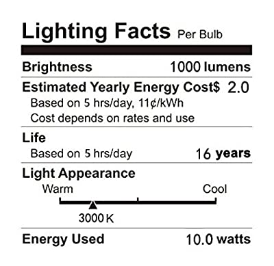 Rayhoo E12 Base LED Light Bulbs Dimmable, Candelabra LED Bulbs 10W, Incandescent 80-100W bulb Equivalent, 3 Pack (Extremely Bright)