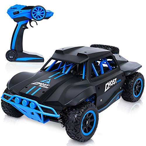 (SGILE RC Remote Control Car for Boys Kids, 25 km/h High Speed Electric Racing Car, 2.4 GHz 1:18 Crawler Car Vehicle Fast Furious Racing Monster Buggy Truck, Black)