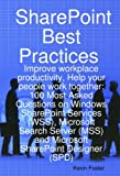 SharePoint Best Practices, Kevin Foster, 1921523670