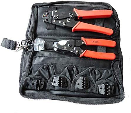 ケーブルカッター ハンド圧着工具セットケーブルカッター付きの圧着工具キット&4つの交換可能なダイセットHS-K02C 手動ケーブルカッター