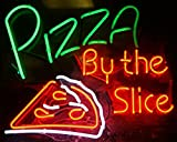 """Desung Brand New 32"""" Pizza By The Slice Neon Sign (Multiple Sizes Available) Custom Restaurant Food Shop Neon Lights Lamp Sports Bar Beer Signs Glass Neon Light CA103"""