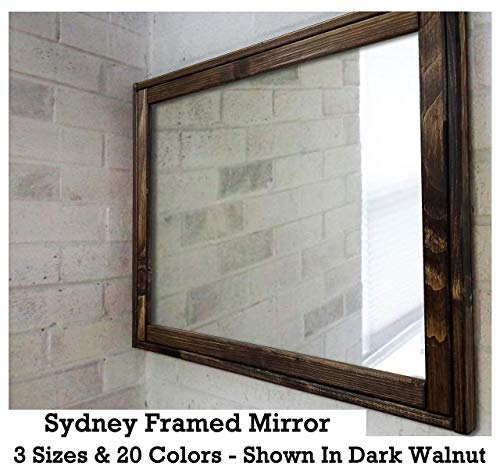 Sydney Rustic Mirror - Vanity Mirror, Bathroom Mirror, Farmhouse Decor, Wood Mirror, - Custom Mirrors Bathroom Sydney