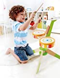 Hape-Rock-and-Rhythm-Kids-Musical-Instruments-Wooden-Drum-Set