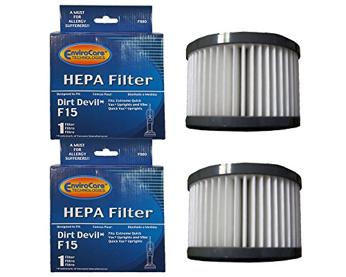 (EnviroCare Replacement HEPA Filters for Dirt Devil F15 Uprights 2 Filters)