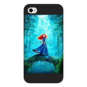 Diy Black Frosted Disney Brave Princess Merida Diy For Ipod 2/3/4 Case Cover case