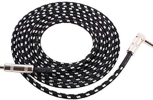 3 m, 6,3 mm, protecci/ón contra ruido, con conector en /ángulo y 1 conector est/ándar para guitarra el/éctrica, bajo, mandolina el/éctrica, Pro Audio VOARGE Cable para guitarra