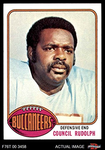 (1976 Topps # 338 Council Rudolph Tampa Bay Buccaneers (Football Card) Dean's Cards 8 - NM/MT Buccaneers)