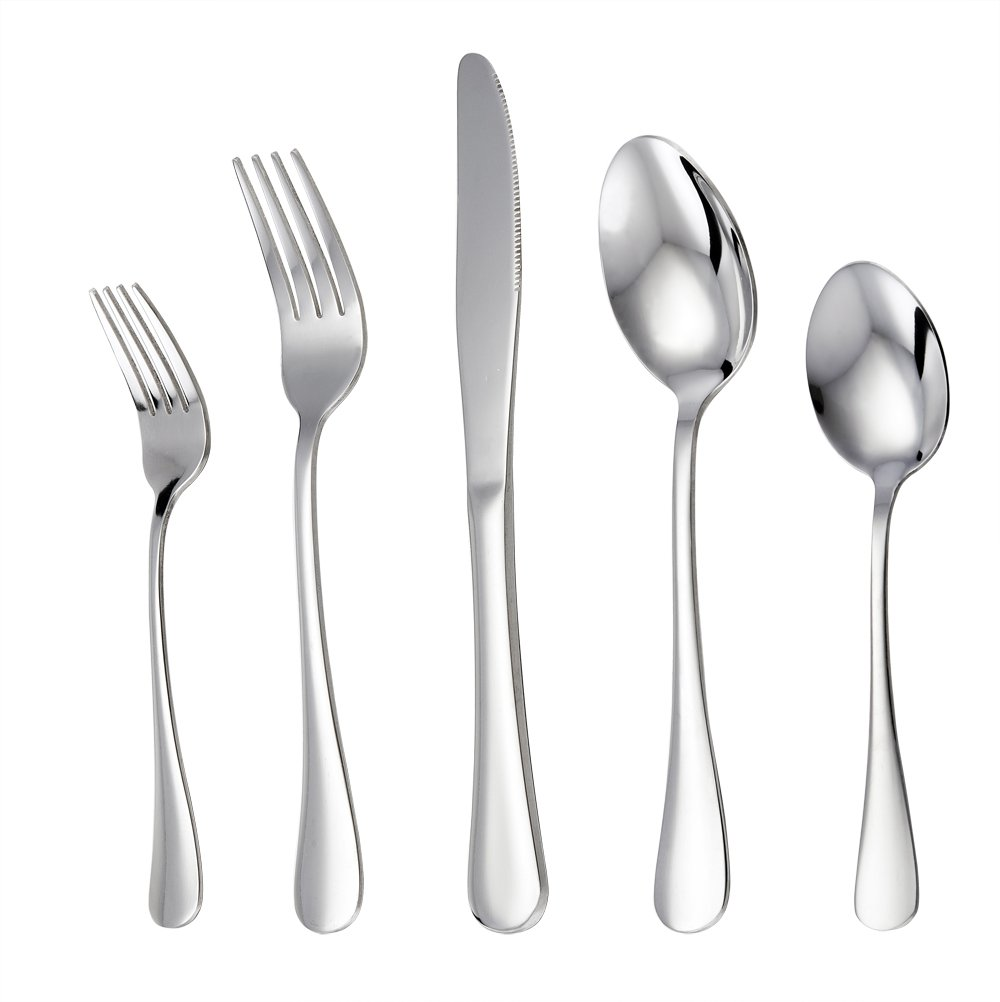 Wildone Stainless Steel Flatware Cutlery Set Service for 4 Dishwasher Safe Tableware Eating Utensils Include Knife//Fork//Spoon Mirror Polished Silverware Set 20-Piece