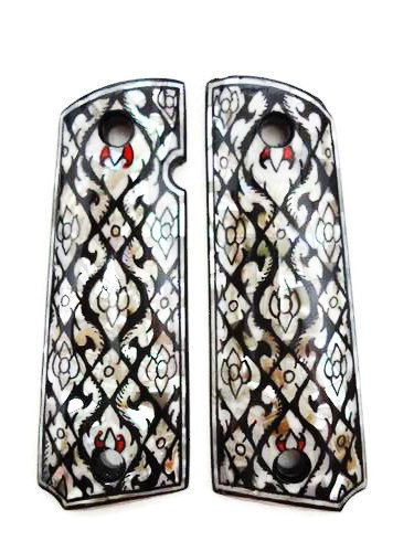 Mother of Pearl Inlay 1911 Grips Fit wit - 02 Handmade Wood Shopping Results