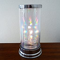 Firefly Crystal Prism Lantern with 2-oz. Refillable Glass Votive Candle