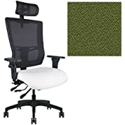 Office Master Affirm Collection AF579 Ergonomic Executive High Back Chair - KR-465 Armrests - Black Mesh Back...