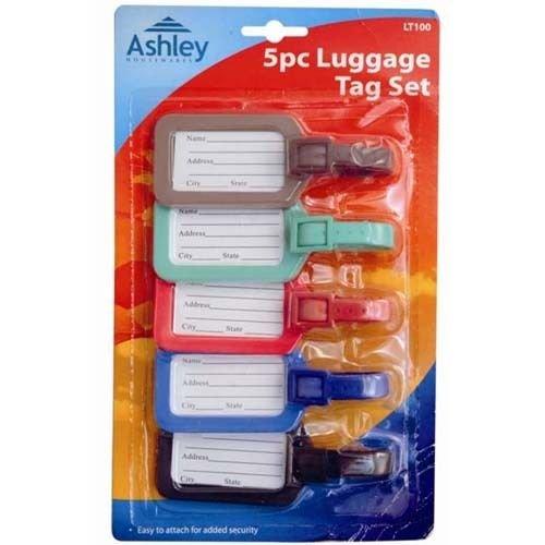 5 Piece Travel Luggage Bag Case Name Address Phone Tag Set LT100