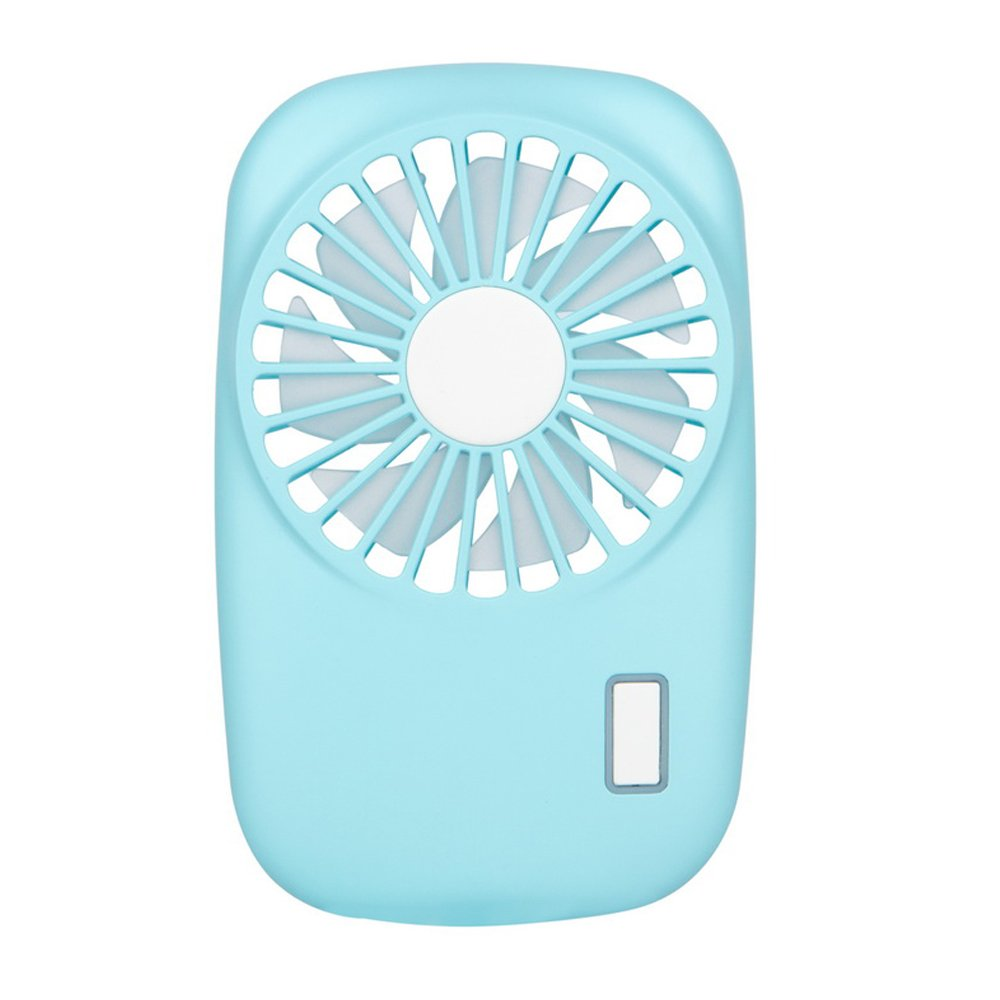 NewSilkRoad Mini Handy Camera Style Portable USB Rechargeable Cooling Fan 7 blades, 2 Speeds of Air Force Adjustable (blue)
