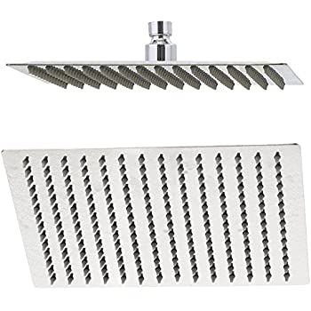 rain shower head 10 inch ultra thin 304 stainless steel solid square showerhead high