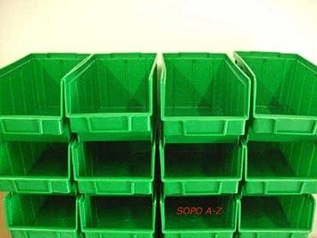 Stapelboxen Grosse 3 Grun 30 Stuck Sichtlagerkasten