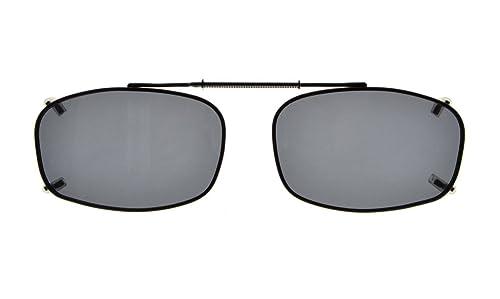 Eyekepper Marco del metal borde lente polarizada Clip sobre gafas de sol 54*34MM