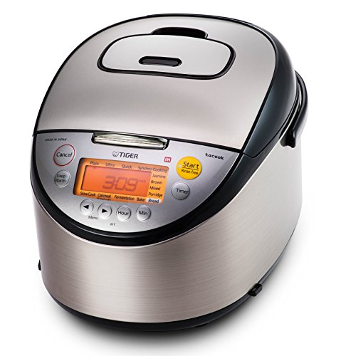 Cheap Tiger JKT-S18U 10-Cup (Uncooked) Multi Purpose IH Cooker (Rice Cooker, Synchro-Cooker, Slow Cooker, Bread Maker, etc.) with Tacook Cooking Plate