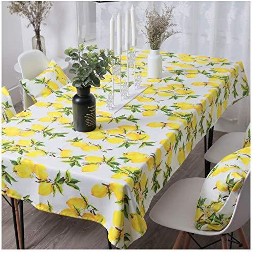 JDCFAS Mantel Cocina Mesa De Centro De Limon con Limon Fresco Vajilla Nordica Impermeable Vajilla140Cmx200Cm