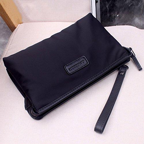 Qidi Business Mezzanine Briefcase Onesize size Waterproof Men Black Handbag trxfFr