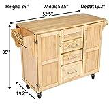 Ball & Cast Kitchen Center Island Cart - Wood Top