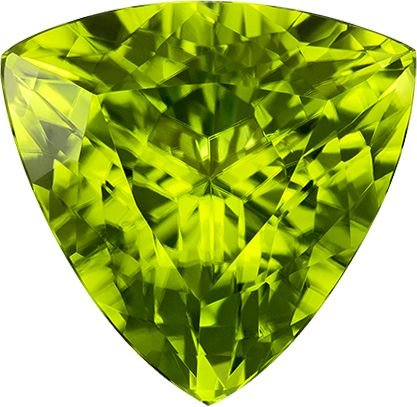 Ratnagarbha Natural Peridot Cut Trillion Shape Faceted Loose Gemstones, 4.00 mm 25 Piece, Peridot Trillion-Triangle Cut, Jewelry Making, Wholesale Price, Exclusively