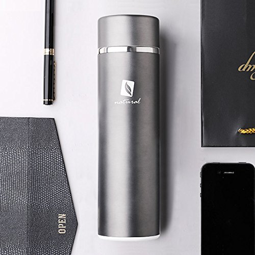 Black 450Ml Cup Travel Mug Stainless Steel Bottle Cup Tea Infuser by Travel Mugs