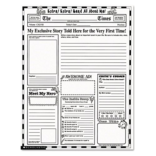 SHS0439152917 - Extra, Extra, Read All About Me - Scholastic Instant Personal Poster Sets - Each
