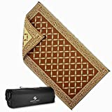 Reversi Mats Large RV Patio Mat and Rug for Outdoors, Backyard, Trailer, Picnics and Camping - Heavy Duty, Weather Resistant, Soft Reversible Rugs by (9 x 18') - Comes with Storage Bag - Brown/Beige