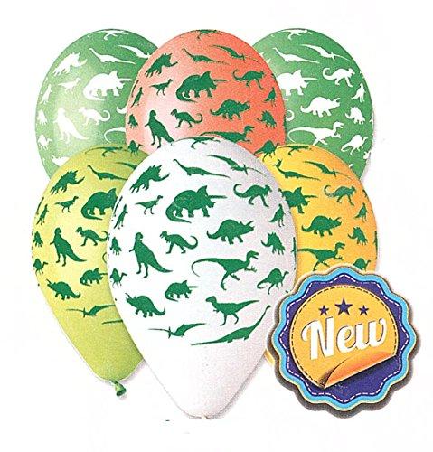 Dinosaur Balloon 30cm-12 Assorted Colours. 10 pcs Esscosa