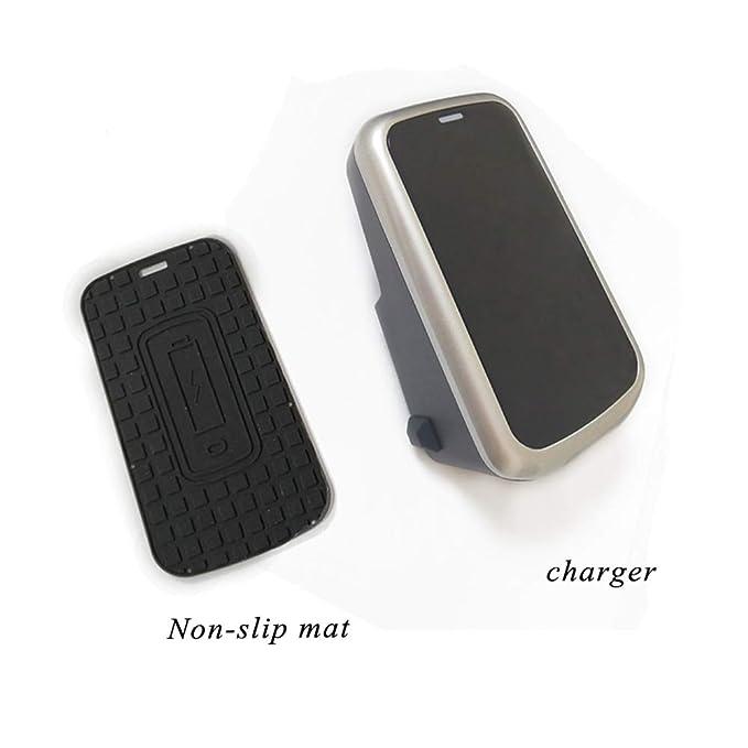 Auto Qi Wireless Charger Halterung Handy Halter Kabellose Induktions Schnelles Ladeger/ät f/ür Volvo xc90 S60 XC60 S90 C60 V60 for iPhone 8 x xr for Xperia Schwarz