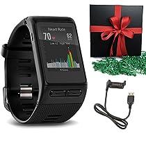 Garmin GPS vivoactive HR Smart Watch, Black, Regular Gift Pack