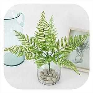 Memoirs- Simulation Plant Flowers Plastic Green Leaves Grass Fern Grass DIY Turf Wall Decor Wedding Decoration Home Garden Decor 115