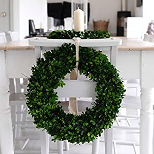 Boxwood Wreath, Spring Wreath, Front Door Wreaths, Preserved Boxwood, Farmhouse Decor, Hygge, Shabby Chic! 108