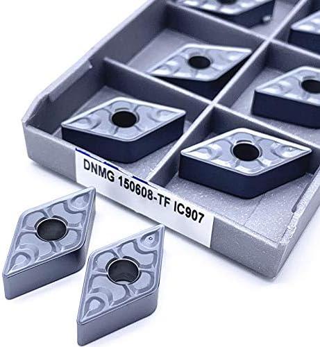 10pcs DNMG150608 TF IC907 908 Außendrehwerkzeuge Hartmetalleinsatz DNMG 150608 Lathe Schneidwerkzeug von Drehwerkzeugeinsatz Drehen (Farbe : DNMG150608 TF IC907)