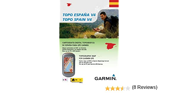 Garmin TOPO Spain v4, DVD/microSD/SD - Software de navegación (DVD ...