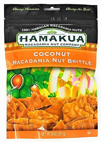 Hawaii Coconut Macadamia Nut Brittle 8 Oz. Bag inside Crush Proof Corrugated ()