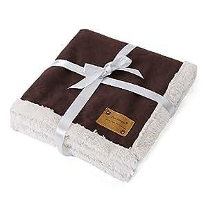 Luxury Soft Warm Dog Blanket for Pet Beds Sofa, car, pet carrier L