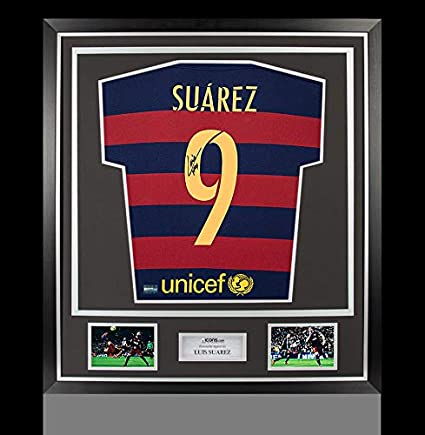 4f2407a37bd Image Unavailable. Image not available for. Color: Luis Suarez Autographed  Signed Barcelona 2015-16 Home Shirt ...