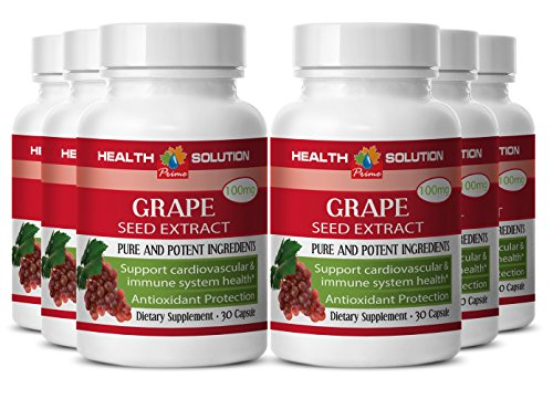 Grape skin extract - GRAPE SEED EXTRACT- support joints and muscles (6 bottles) by Health Solution Prime