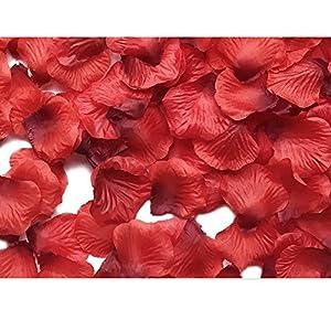 MayaRed 2000 PCS 22 Colors Artificial Silk Rose Petals Wedding Flower Decoration 2