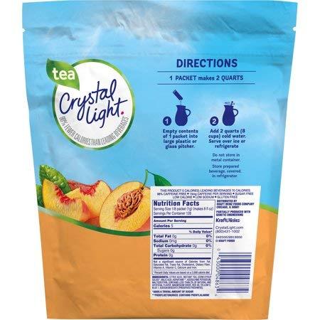 Crystal Light Drink Mix, Peach Tea, 16 Packets