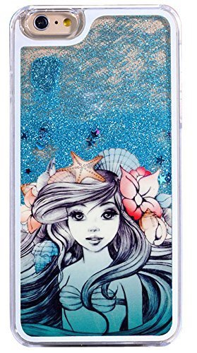 DECO FAIRY Compatible with iPhone 8 / 7, Cartoon Anime Animated Blue Ocean Little Mermaid Princess Fairy Flexible Ultra Slim Transparent Translucent iPhone Case Cover Case