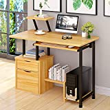 Computer Desk,Laptop Desk Modern Style Writing Study Table Home Office Desk Compact Gaming Desk Multipurpose PC Workstation Steel Frame and Bookshelf for Home Office with Keyboard Tray & CPU Holder