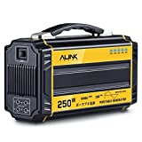 AlinkTrend 250W Portable Generator- 60000mAh Pure Sine Wave Power Generator Emergency Generator Power Source for Power Outage, Outdoors, Camping, Beach, CPAP Machine