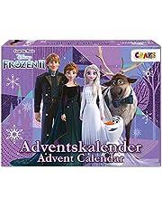 CRAZE Adventskalender Frozen II julkalender isdrottning isprincess 2021 flickor leksakskalender kreativt innehåll fantastiska överraskningar 24652