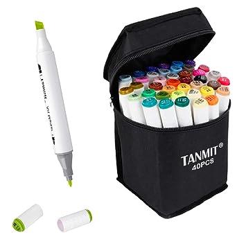 Amazon.com: Tanmit - Rotuladores de punta doble para niños ...