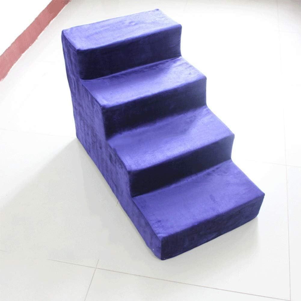 LIXBD Pet Life / - Aumentando púrpura Perros Escaleras, 4 peldaños de la Escalera de pequeño a Mediano Mascotas, Grande for el sofá Cama y de Alta ndash;60 cm de Altura: Amazon.es: Hogar
