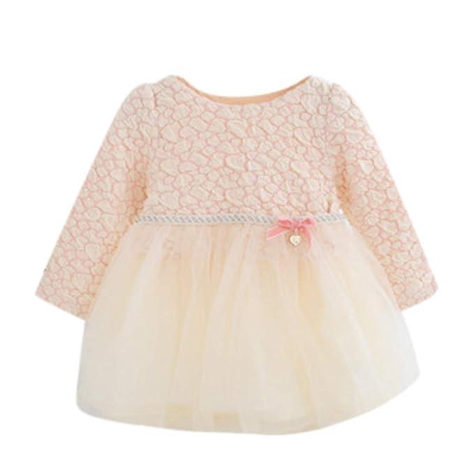 Kinlene Infante Appena Nato della neonata Lace Tulle di Cotone Partito  Principessa Dress Outfits 3a2232c1783