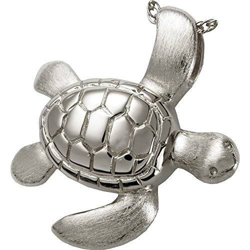 Memorial Gallery 3208s Sea Turtle Sterling Silver Cremation Pet Jewelry by Memorial Gallery